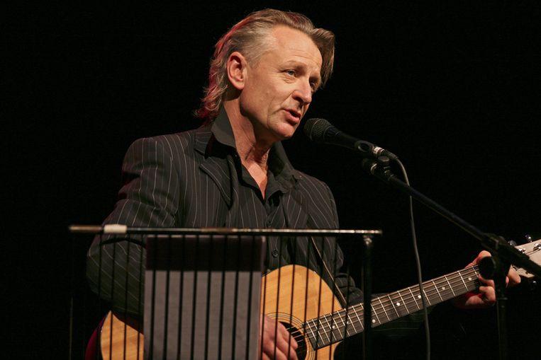 Jeroen van Merwijk tijdens een optreden in Bussum. Beeld ANP