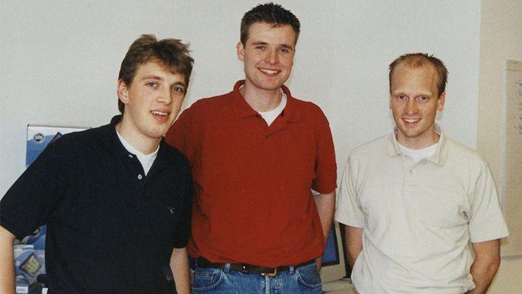De drie oprichters van Coolblue. Ze begonnen mp3-spelers te verkopen op hun studentenkot in Rotterdam. Beeld Coolblue