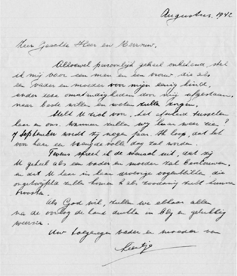 De brief van Liens moeder Beeld