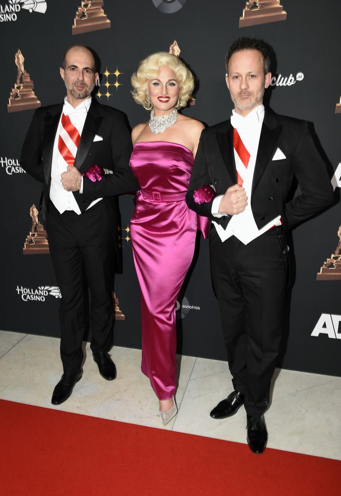 Brigitte Heitzer met Hein Gerrits en Ara Halici