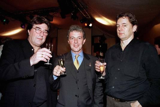 Laurens Geels, Huub Stapel en Dick Maas  in betere tijden bij een reünie van de film Amsterdamned.