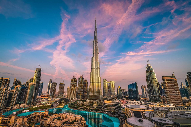 Zicht op Dubai. Beeld Getty Images
