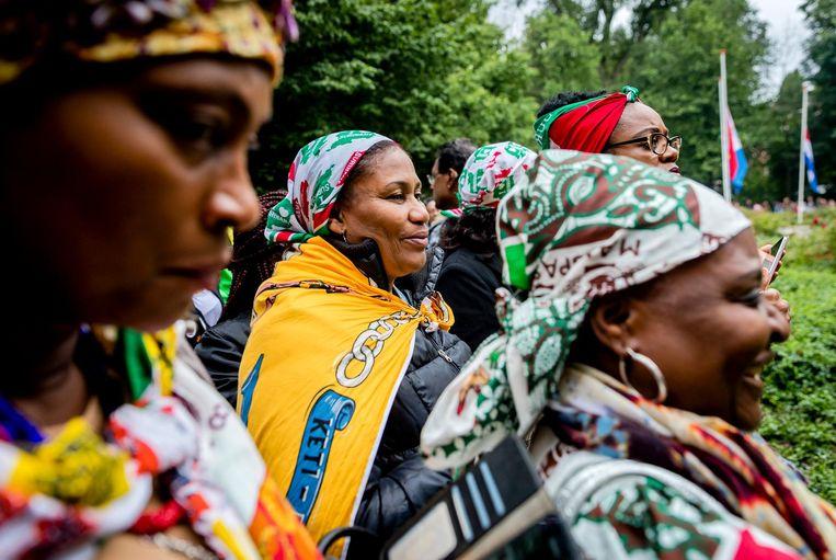 De nationale herdenking van de afschaffing van de slavernij in het Oosterpark Beeld ANP