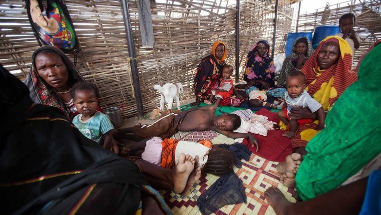 Soedanese vluchtelingen in het zuiden van Darfur. Beeld epa