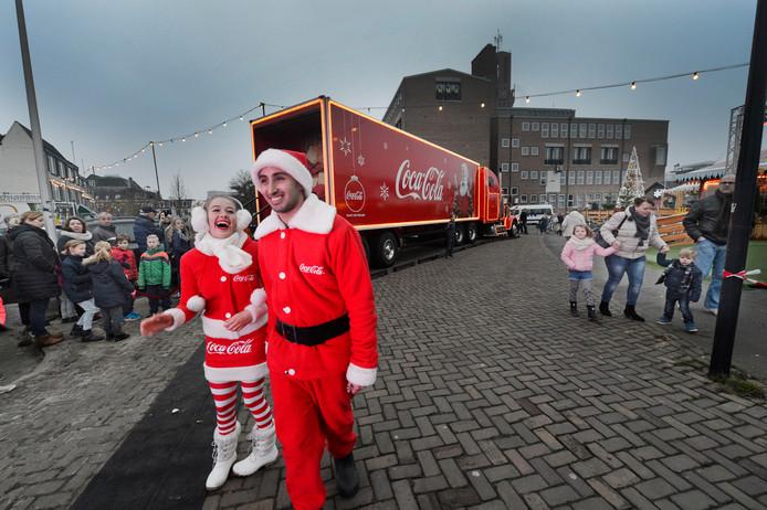Vorig jaar was de kersttruck ook in Hengelo.