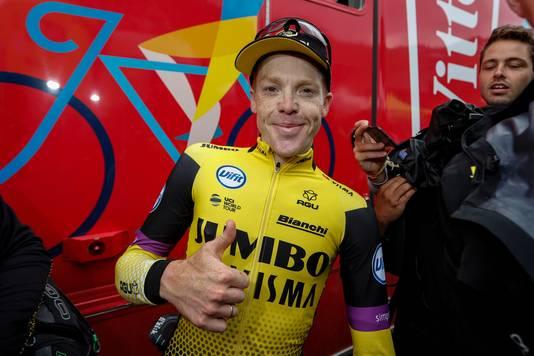 Steven Kruijswijk tijdens de Tour de France afgelopen zomer.