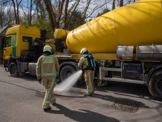 Brandweer onderschept betonmixer met smeulende remmen