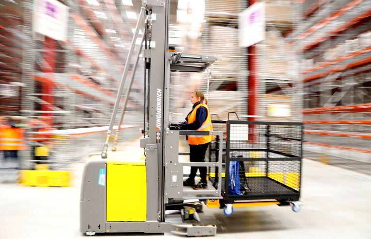 Amazon-distributiecentrum in het Duitse Werne.  Beeld EPA