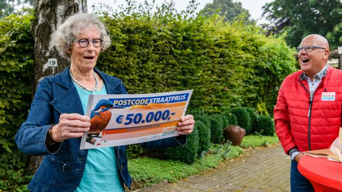 Straatprijs Postcode Loterij valt in villawijk in Haaksbergen