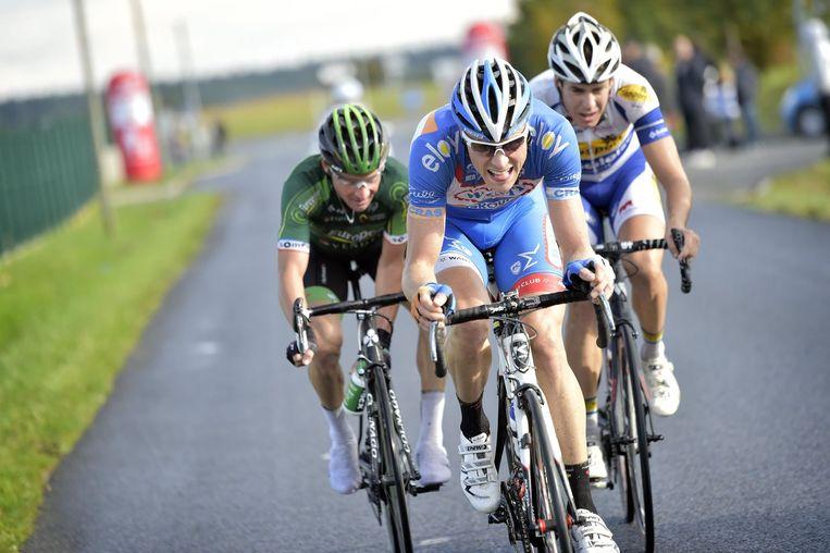 Toen waren ze nog met drie: Kevin Van Melsen, Jelle Wallays en Titi Voeckler. Beeld PHOTO_NEWS