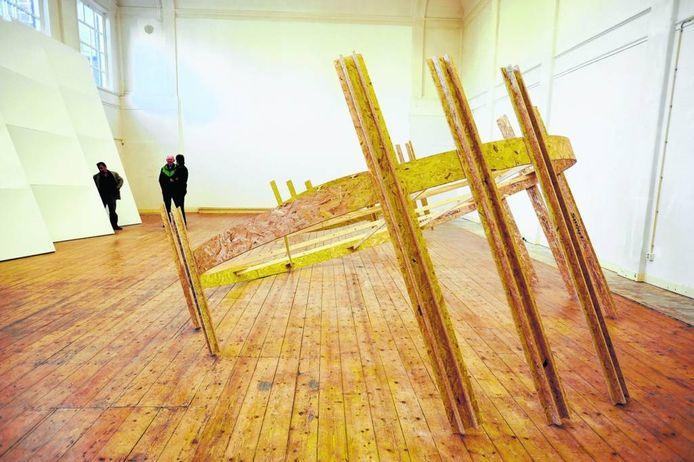 Ruimte Goretti werd soms door kunstenaars gehuurd. Anderhalf jaar exposeerde Paul van Rijswijk er.