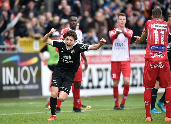 Yuta Toyokawa nam drie van de goals voor z'n rekening in de veelsproken 4-0-zege van Eupen tegen Moeskroen eind vorig seizoen.