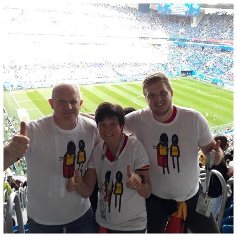 De T-shirts werden ook al gespot op het WK voetbal in Rusland.