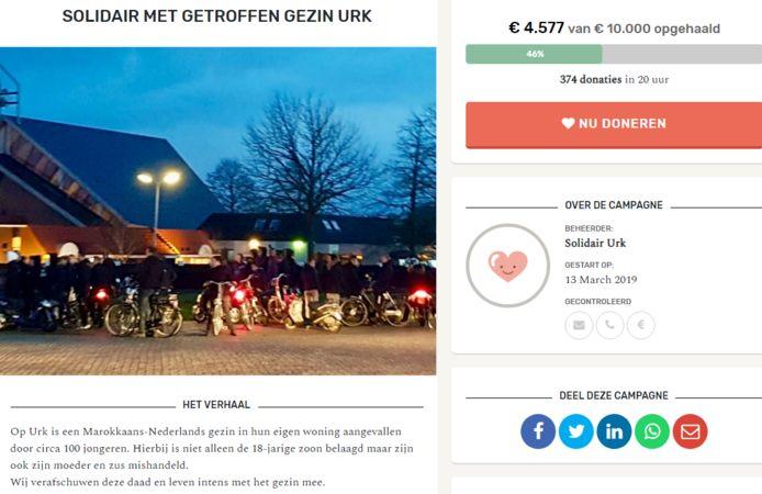 Binnen 24 uur werd bijna de helft van het streefbedrag opgehaald van de crowdfunding voor het gezin dat maandagavond in hun eigen huis op Urk werd aangevallen door een groep woedende jongeren.