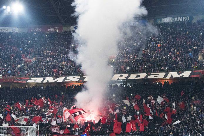 Vuurwerk in de Amsterdam Arena.
