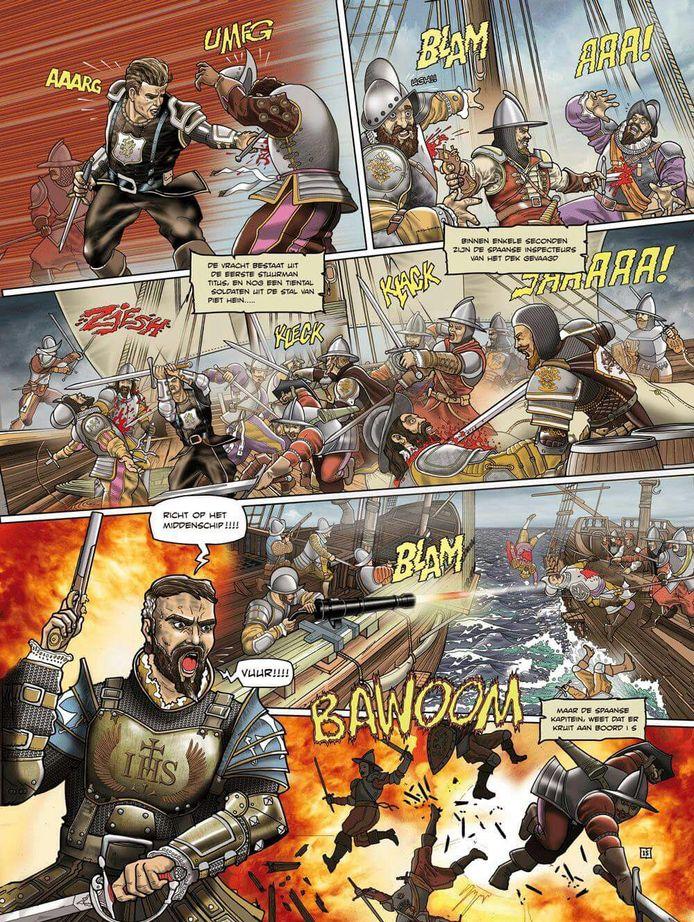 Pagina uit stripboek Poveglia.