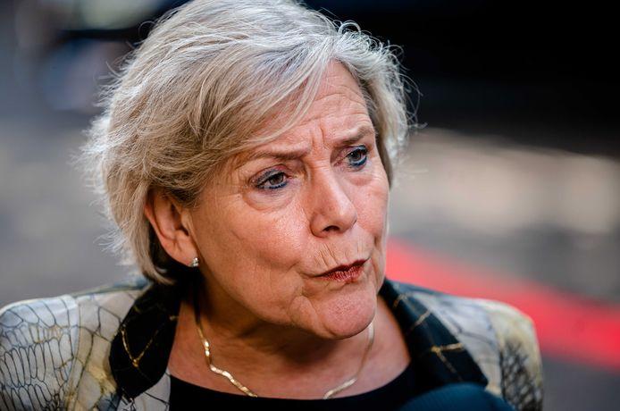 Demissionair Minister Ank Bijleveld van Defensie (CDA).