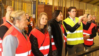 Federaal minister Marghem bezoekt Ceratec en Steenbakkerij van Ploegsteert