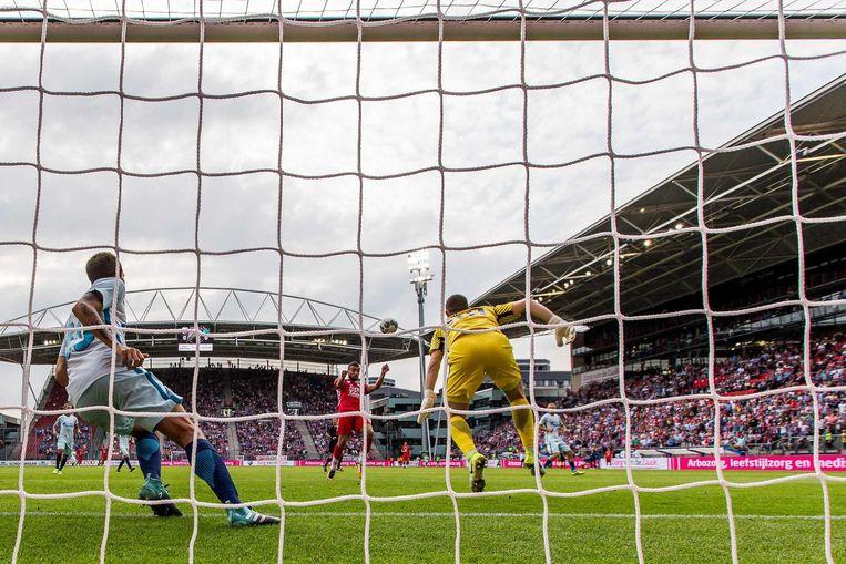 Zakaria Labyad scoorde de enige goal van de wedstrijd. Beeld anp