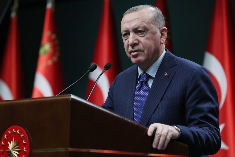 De Turkse president Recep Tayyip Erdogan. Beeld EPA