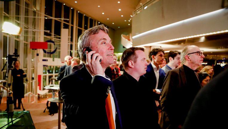Eric van der Burg, lijsttrekker VVD Amsterdam tijdens de uitslagenavond in de Stopera Beeld ANP