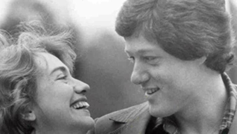Hillary en Bill Clinton , begin jaren zeventig. Beeld HH