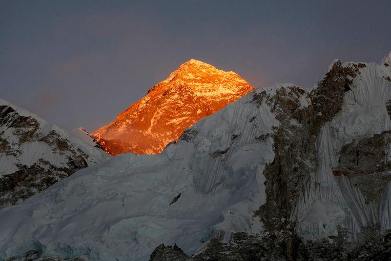 De Mount Everest gezien vanuit Nepal. Beeld AP
