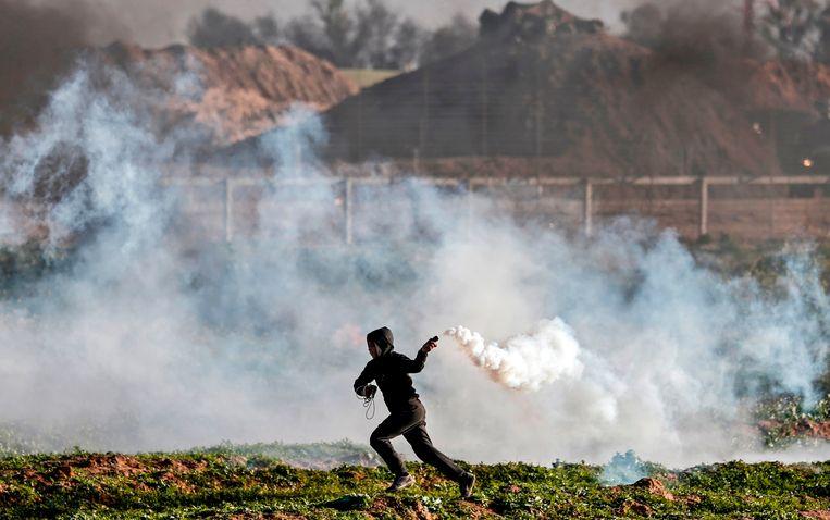 Een Palestijnse betoger. (archiefbeeld) Beeld AFP