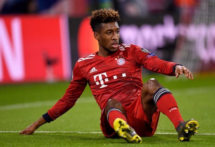 Kingsley Coman ging met Bayern München onderuit tegen Liverpool.