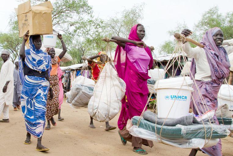 Een vluchtelingenkamp in Zuid-Soedan, 2013. Beeld BELGA