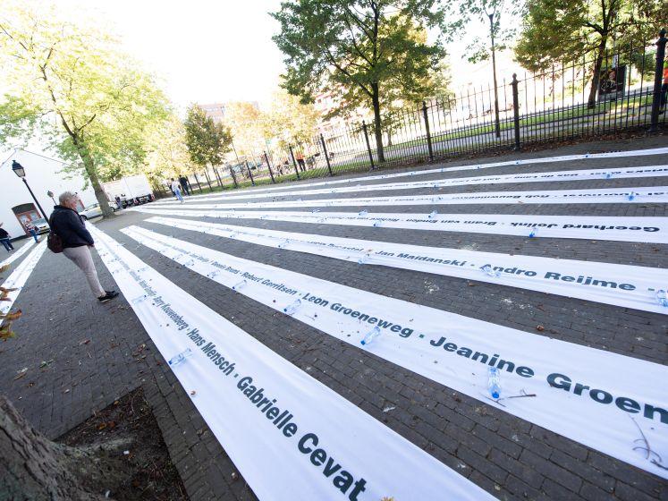 Namen-lint van 160 geweldslachtoffers trekt zaterdag door Tilburgse binnenstad