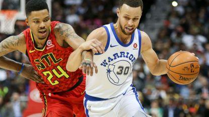 Golden State Warriors winnen ondanks uitvallen Curry ook in Atlanta