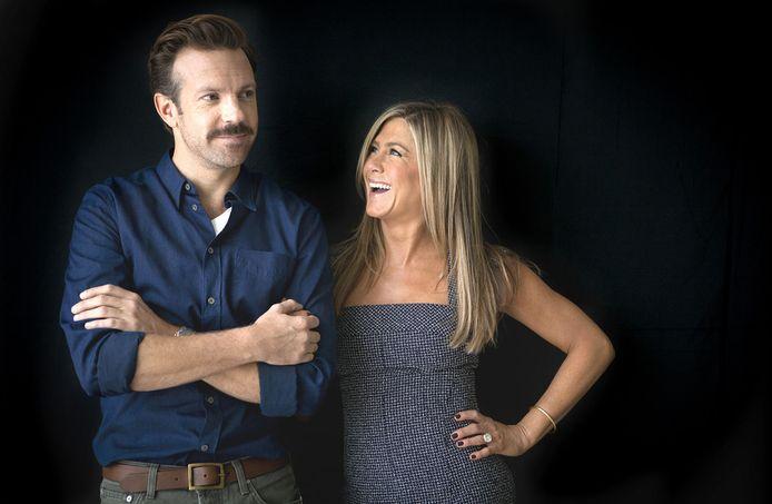 Jennifer Aniston met Jason Sudeikis, haar tegenspeler in We're The Millers.