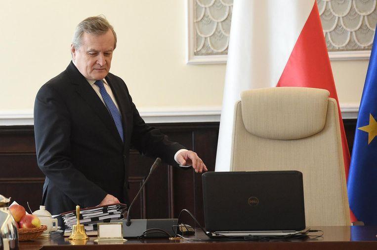 Minister Glinski in Warschau, februari 2017. Beeld epa