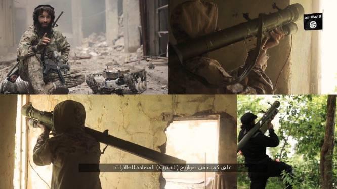 """Belgische IS-strijder toont nieuwe wapens van terreurgroep in Mosoel: """"Allah heeft ons middelen ter beschikking gesteld"""""""