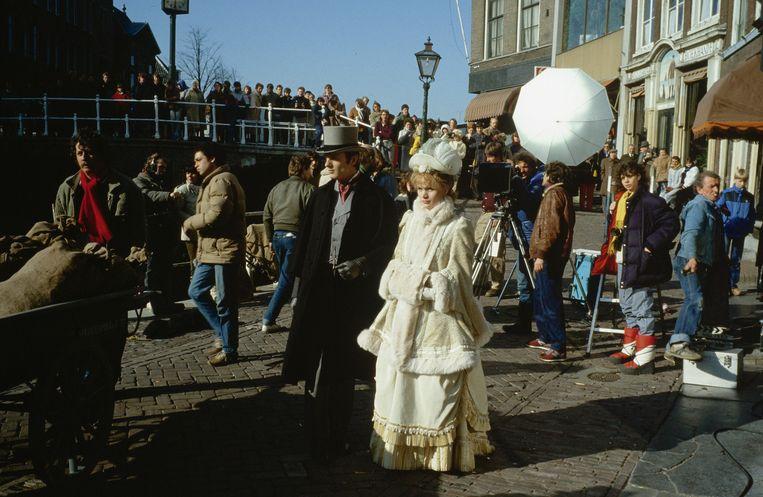 Opnamen voor Van Brakels film 'Van de Koele Meren des Doods', 1982. Beeld ANP