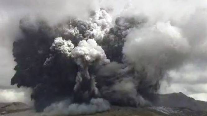 Vulkaanuitbarsting in zuidwesten van Japan