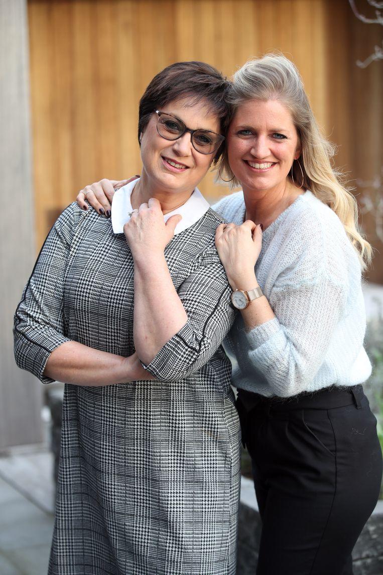 Elke en haar mama Marijke.