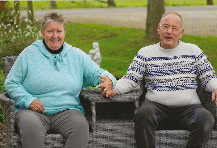 Anita samen met haar man Martien kort voor haar overlijden