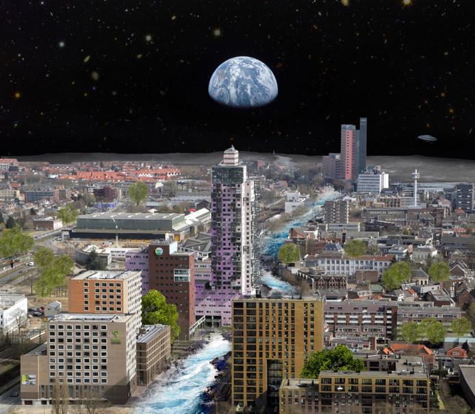 Tilburg op de maan.