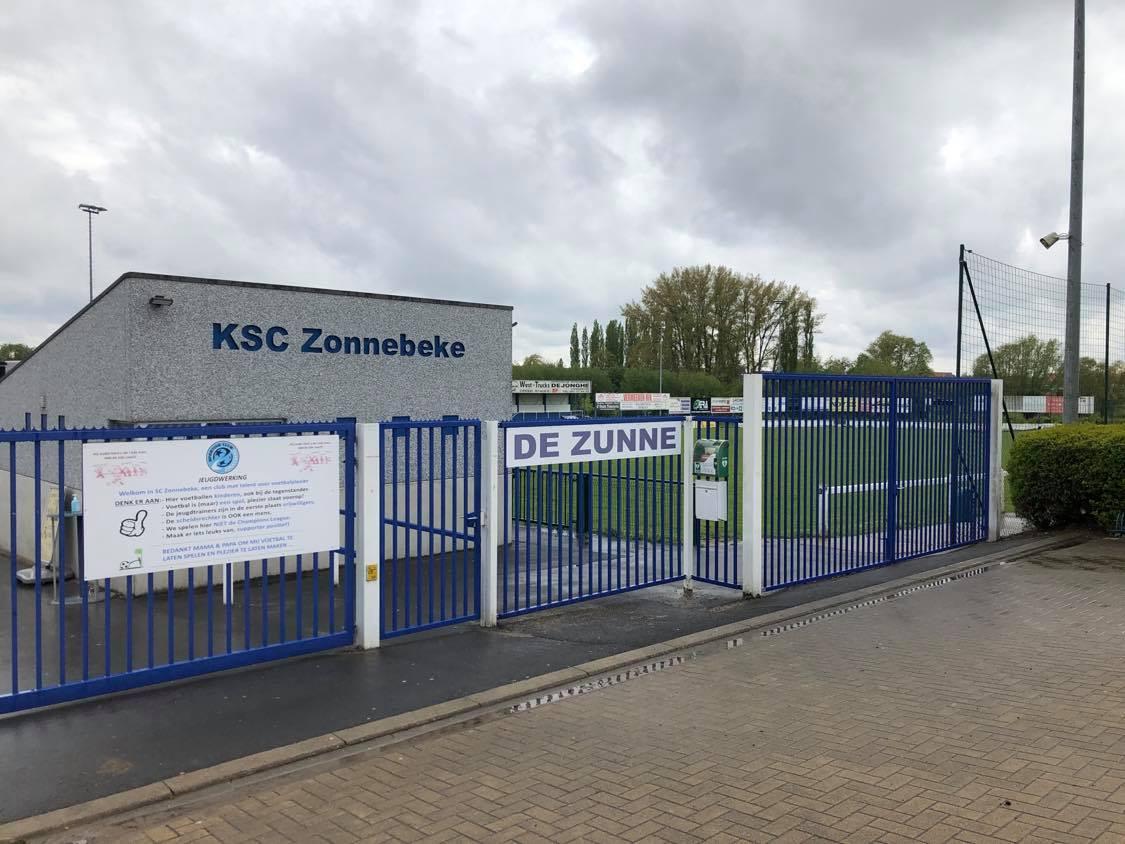 De terreinen van SC Zonnebeke bevinden zich langs de Ijzerweg