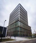 Het gebouw van het Europees Geneesmiddelen Agentschap (EMA) op de Amsterdamse Zuidas.