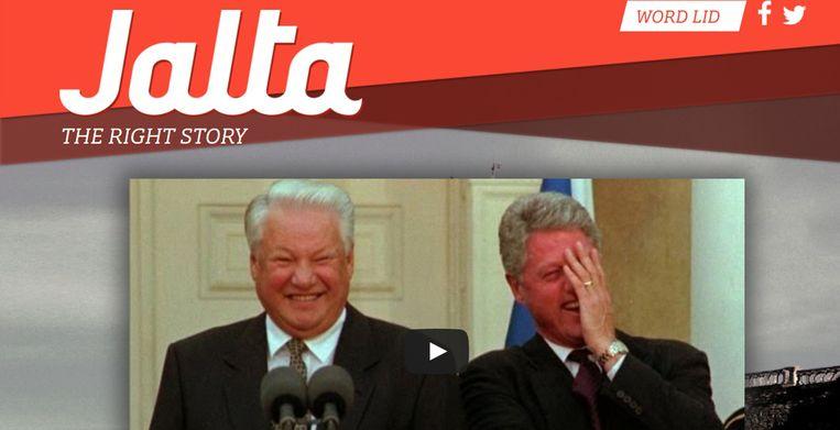 De nieuwe opiniesite Jalta.nl Beeld jalta.nl
