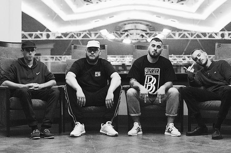 DJ Vega, Jazz, Omar G en Astrofisiks van Stikstof. Beeld Yaqine Hamzaoui