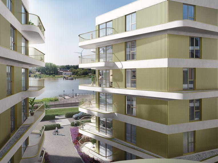 Met Brig verrijzen 97 appartementen aan de Rupel.