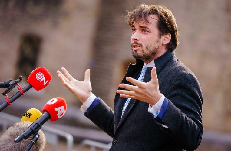 FvD-voorman Thierry Baudet op het Binnenhof.  Beeld ANP