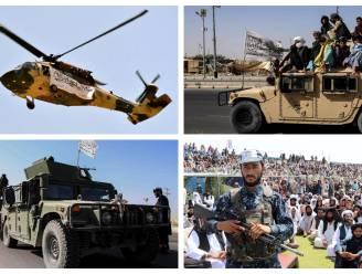 Taliban houden militair defilé met veroverde Amerikaanse voertuigen