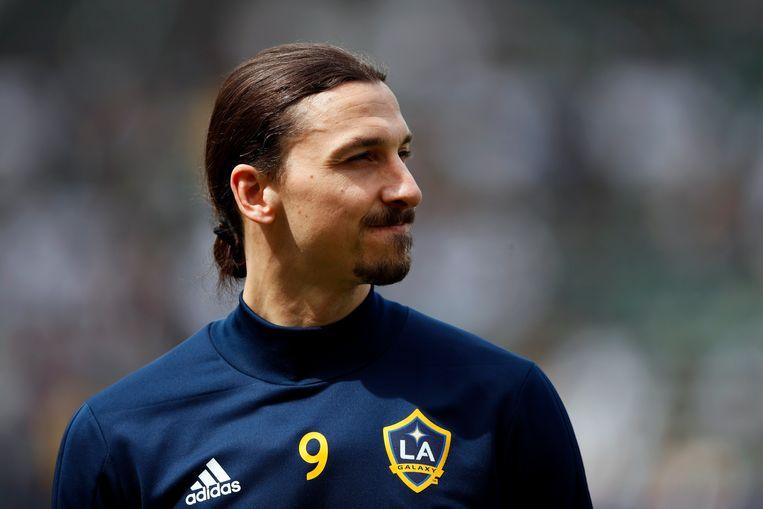 Zlatan Ibrahimovic, hier nog in het shirt van LA Galaxy, is intussen 38, maar zijn leeftijd speelt duidelijk geen rol. Beeld AP