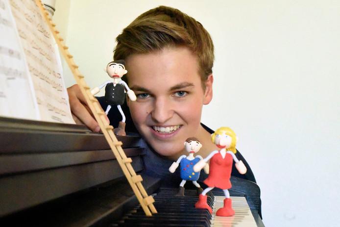 Pieter Lossie maakte een filmpje voor YouTube en won daarmee een prijs.