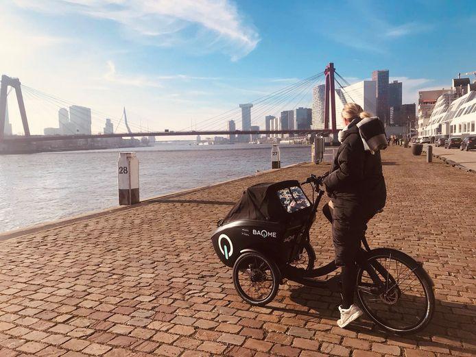 Baqme heet de nieuwe elektrische deelbakfiets in Rotterdam.
